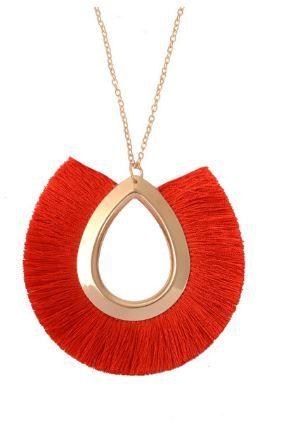 *REGALO Collar rojo espectacular. Nuevo