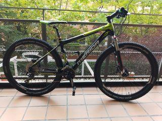 bicicleta de MTB de fibra de carbono talla s
