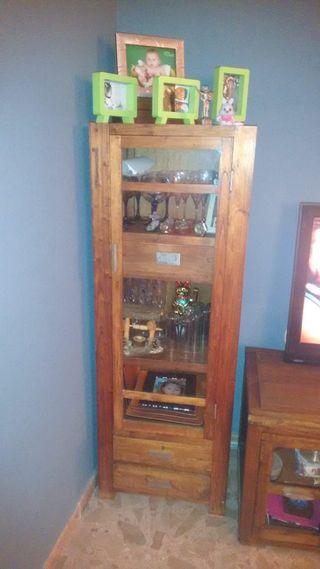 Mueble salón de madera pino en perfecto estado