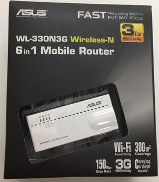 Wireless-N Router Móvil Nuevo.