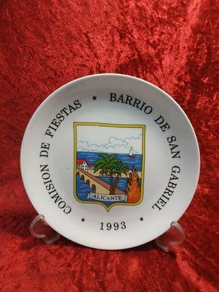 Antiguo plato de comision fiestas San gabriel 1993