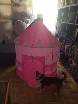 Tienda de campaña de princesas rosa