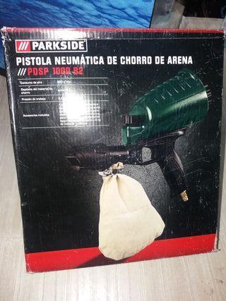 pistola de chorro de arena