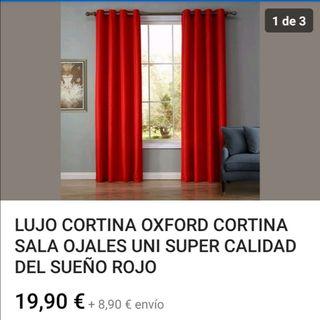 2 cortinas NUEVAS opacas con ojales