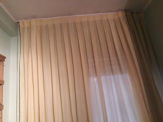 cortina de gasa color amarillo clarito