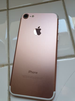 IPHONE 7 DE 128GB ROSA SEMINUEVO ORIGINAL LIBRE