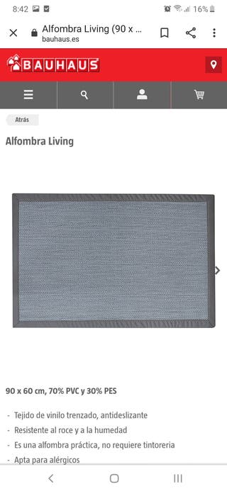 NUEVA alfombra vinilica gris 60x90 stor planet