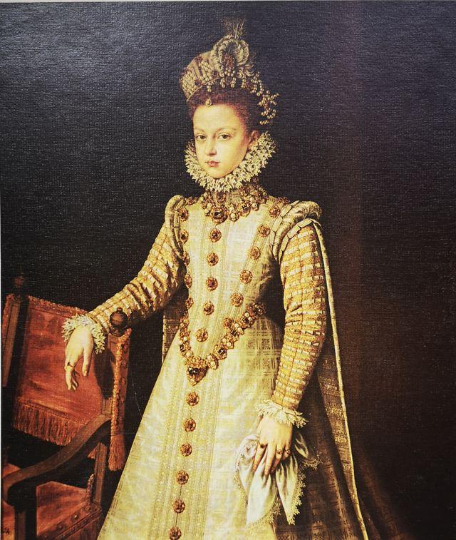 Lámina del retrato de La Infanta Isabel de Coello