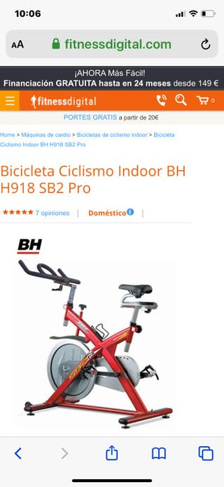 BICI ESTÁTICA BH SB2 Pro