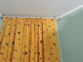 cortina infantil tonos ocres con lunas y soles
