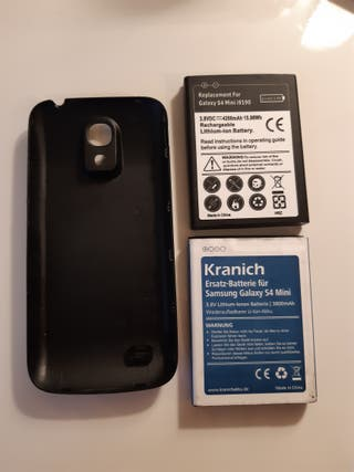 samsung s4 mini carcasa + 2 baterias