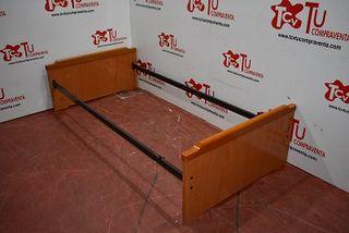 Cama madera color cerezo 99x201cm