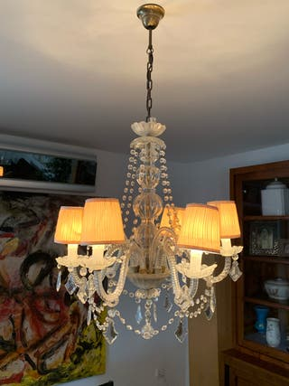 Lámpara antigua de cristal