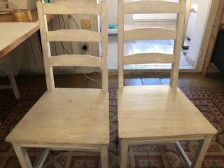 4 sillas de madera para comedor