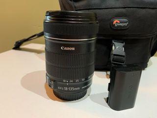 Cámara réflex Canon 60D, Objetivo Canon 18-135mm