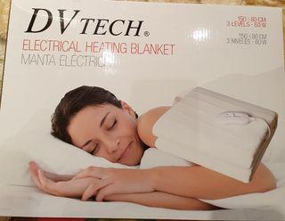 Manta eléctrica calienta camas individual