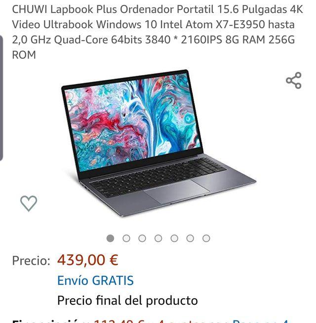 """CHUWI Lapbook Plus 15'6"""". 4k.PRECINTADO"""