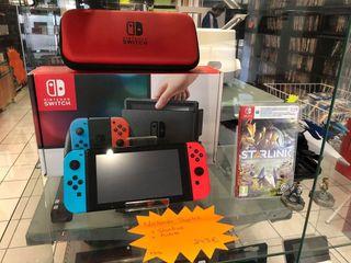 Nintendo Switch + pochette de rangement + le jeux