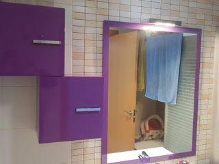 espejo + aplique luz + cajones para baño