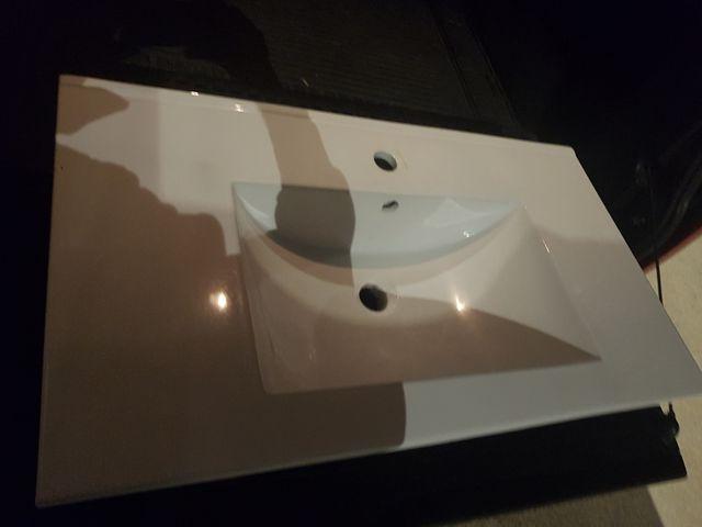 espejo + aplique luz + cajones para baño+ pica