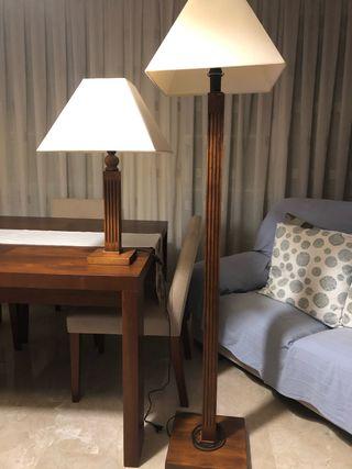 Lámparas de madera maciza