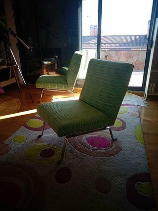 butacón verde vintage