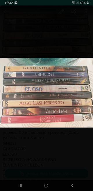 8 películas dvds ORIGINALES.