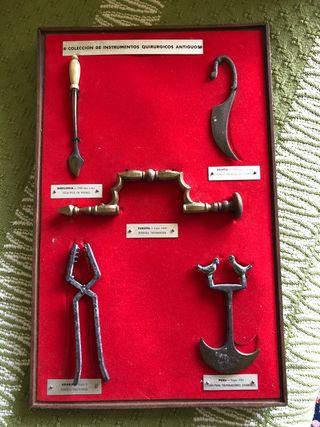 Colección de instrumentos quirúrgicos antiguos