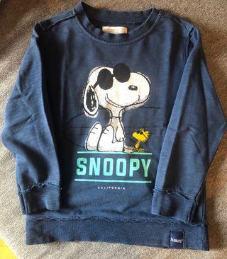 Sudadera Snoopy Zara Boys Talla 5 110 cm