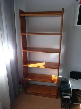 Mueble - Estantería de madera de pino
