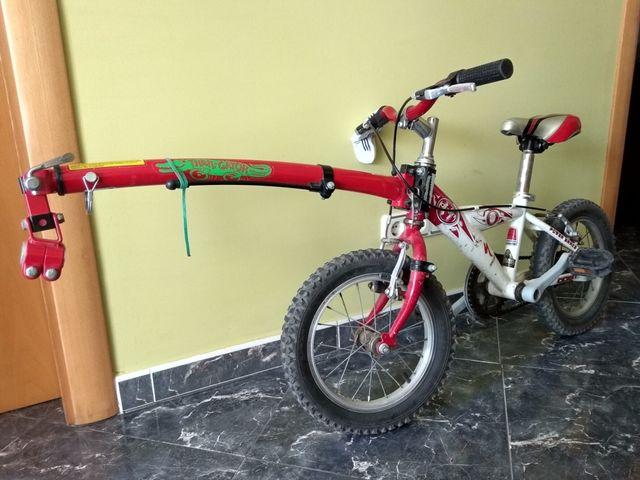 bicicleta Quer 14 pulgadas + Trail-gator tándem