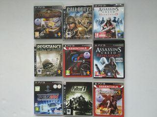Lote 9 videojuegos PS3