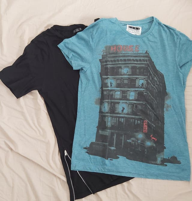 5 camisetas manga corta