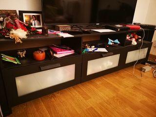 Mueble de TV Ikea salón negro