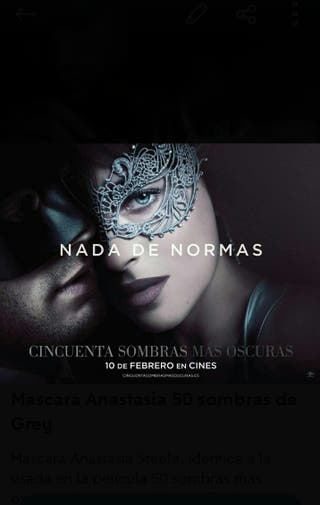 Mascara Anastasia Steele 50 sombras de Grey