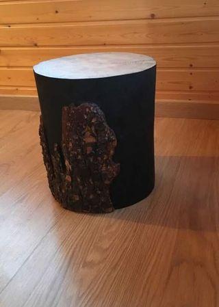 Original tronco tallado mesa auxiliar