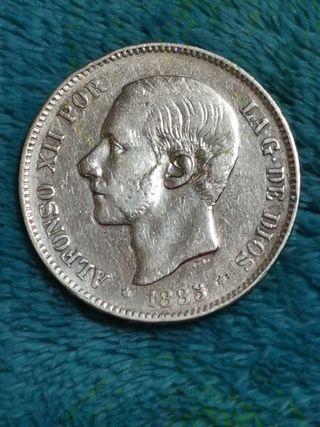Duro de plata Alfonso XII 1885*87