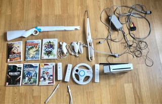 Wii + accesorios en perfecto estado