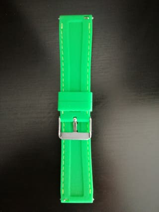 correa reloj silicona SIN ESTRENAR color verde