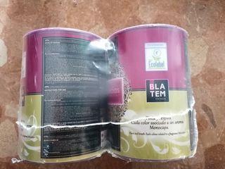 2 botes de pintura 750ml Blatem color Cereza