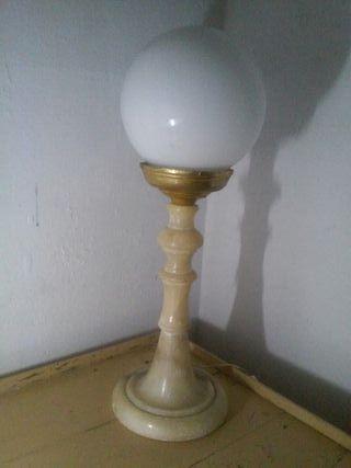 Antigua lámpara alabastro cristal opalina Vintage