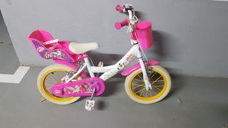Bicicleta 14´´, 3-5 años con accesorios