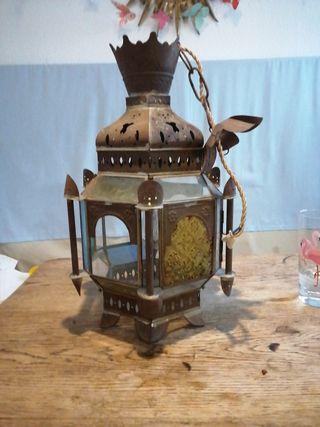 lámpara árabe techo vintage