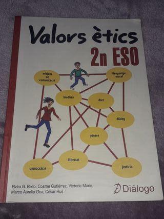 Libro valores éticos en valenciano 2 ESO