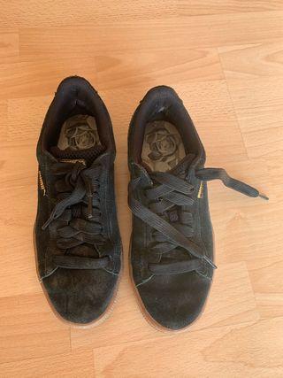 Zapatillas puma negra suela caucho