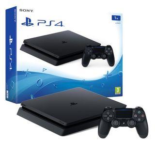 PS4 SLIM 1 TB + MANDO CRYSTAL