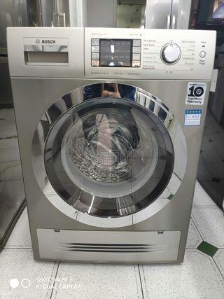 lavadora con secadora acero inoxidable bosch 7/4kg