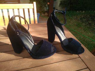 zapatos fiesta terciopelo pull&bear