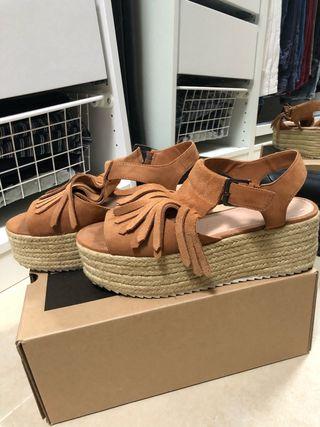 Sandalias cuñas plataforma