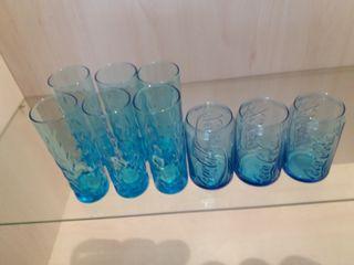 Vasos cristal resistente azul